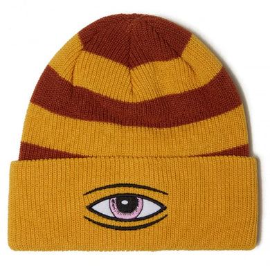 Toy Machine Sect Eye Stripe Dock Mustard Beanie