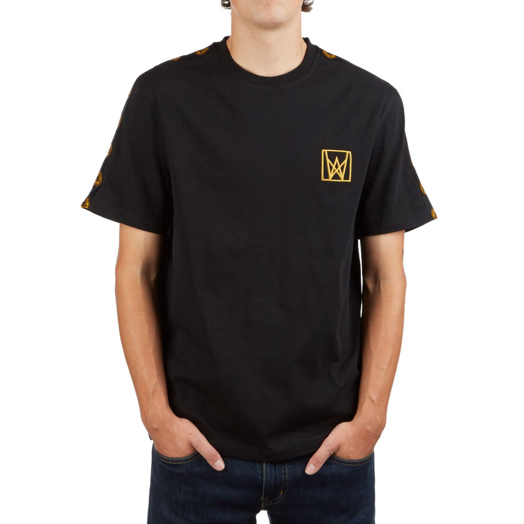Welcome Chalice Taped Crew Black/Gold Short Sleeve Shirt