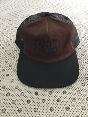 Antihero Reserve Patch Trucker Hat Black & Brown