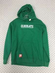 Chocolate Pullover Green Hoodie Large