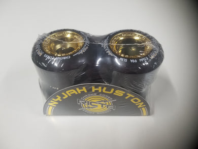 Ricta 53mm 99a Nyjah Houston Slim Chrome Cores Black and Gold Wheels