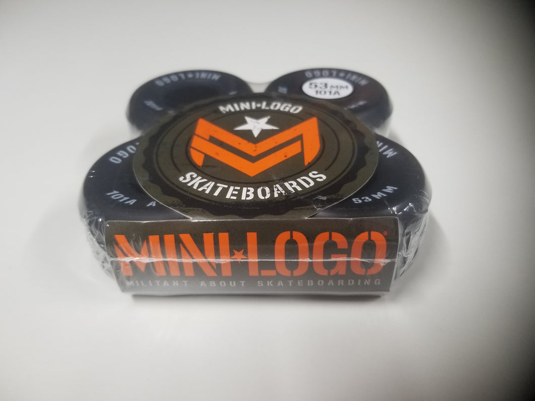 Mini Logo Black A-Cut 53mm 101a Wheels