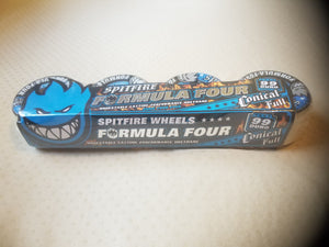 Spitfire Formula Four Conical Full 99duro Natural Blue Wheels