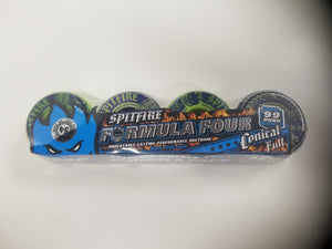 Spitfire Formula Four Navy/Lime Mash Conical Full 54mm 99duro Wheels