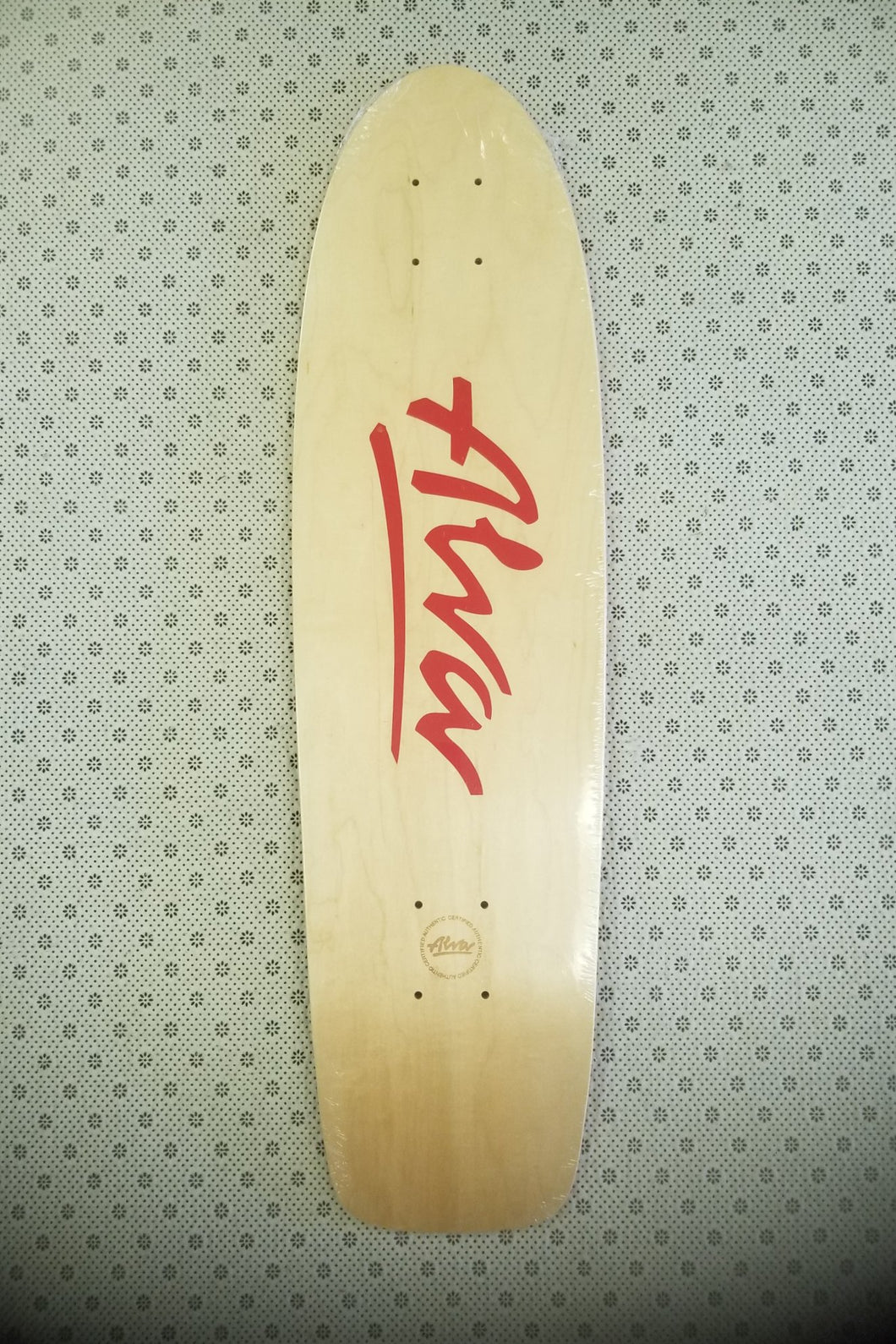 Alva 1977 OG Red Deck 7.75 X 29.5 Reissue With Grip