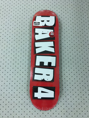 Baker Baker 4 OG Red Deck 8.5 Includes Black Mob Grip