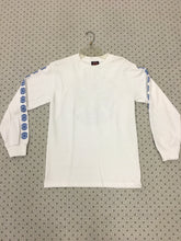 Load image into Gallery viewer, Independent Cross Logo White & Blue size Small Long Sleeve T-Shirt