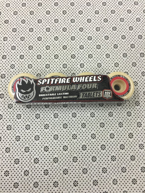 Spitfire Formula Four Tablets 101duro Natural Red Wheels