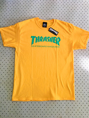 Thrasher Flames T-Shirt Gold & Teal