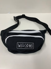 Load image into Gallery viewer, Welcome Scrawl Black and White Hip Bag