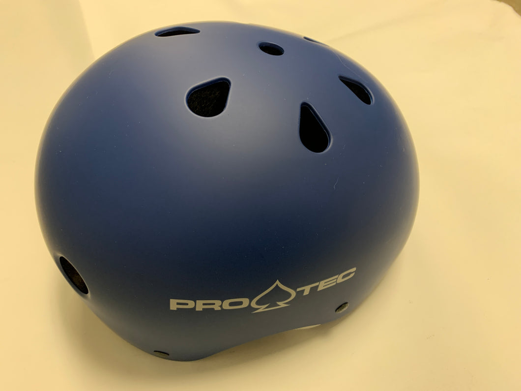 Pro Tec Helmet Classic Certified Matte Blue Medium