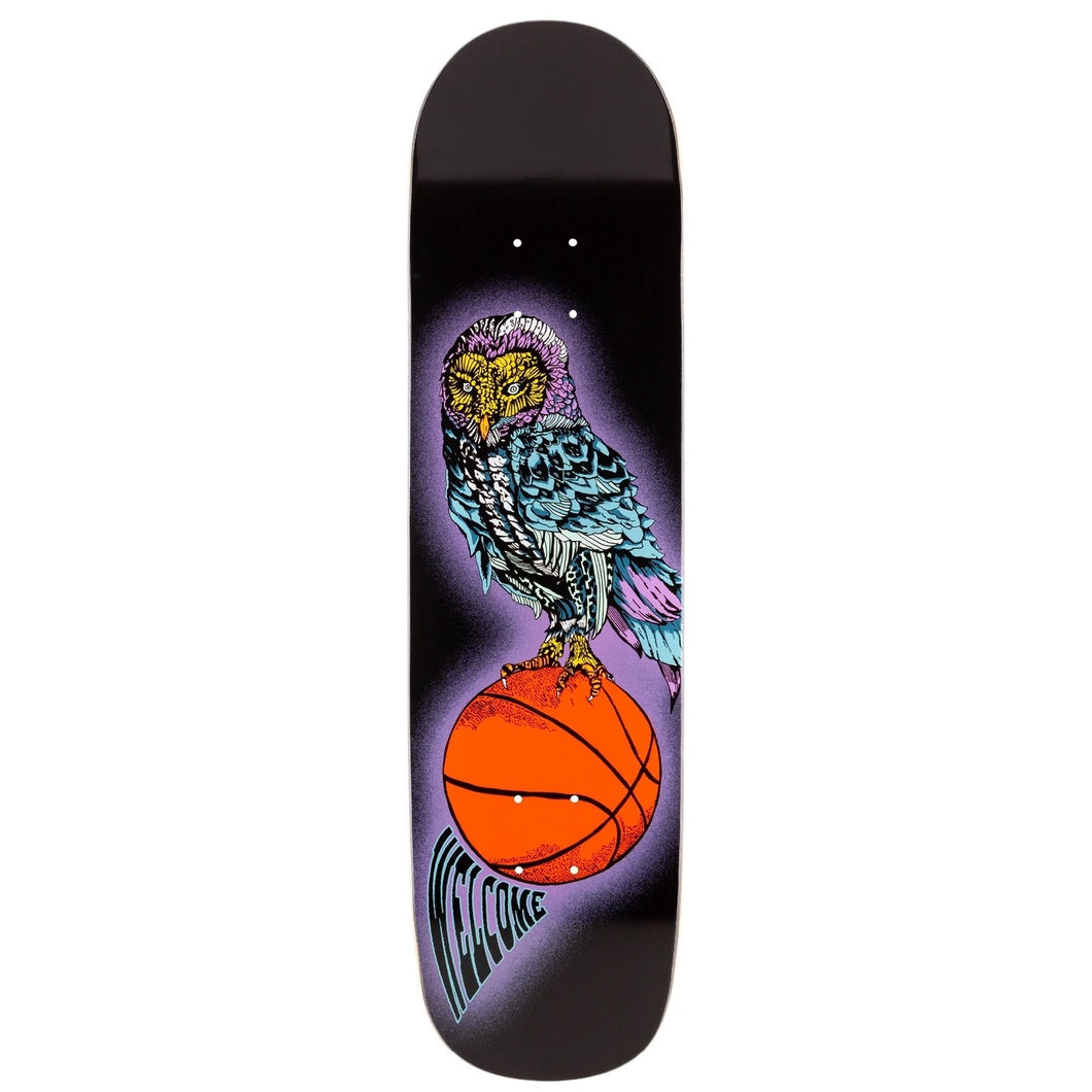 Welcome Hooter Shooter on Bunyip Mid 8.25 Skateboard Deck Includes Mob Grip