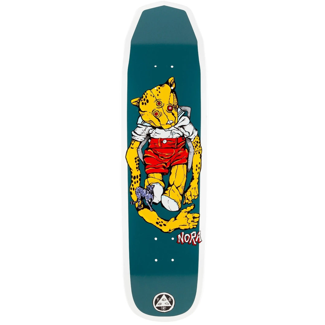 Welcome Nora Vasconcellos Teddy on Wicked Queen White Dip 8.6 Skateboard Deck Includes Mob Grip