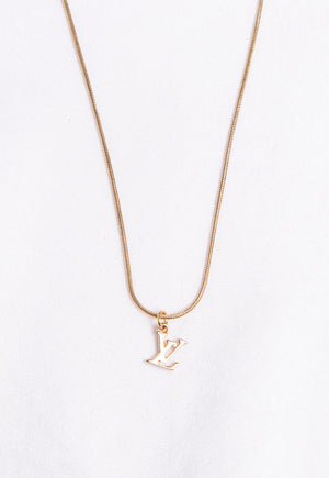 Reworked Louis Vuitton LV Micro Pendant Necklace