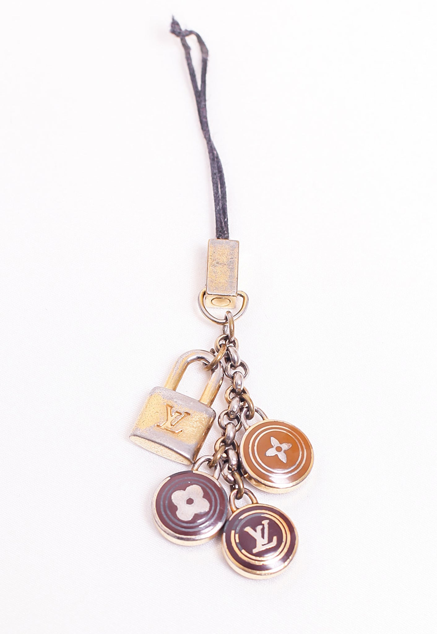 Reworked Louis Vuitton Brown LV Pendant Necklace