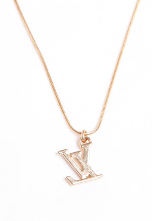 Reworked Louis Vuitton LV Pendant Necklace