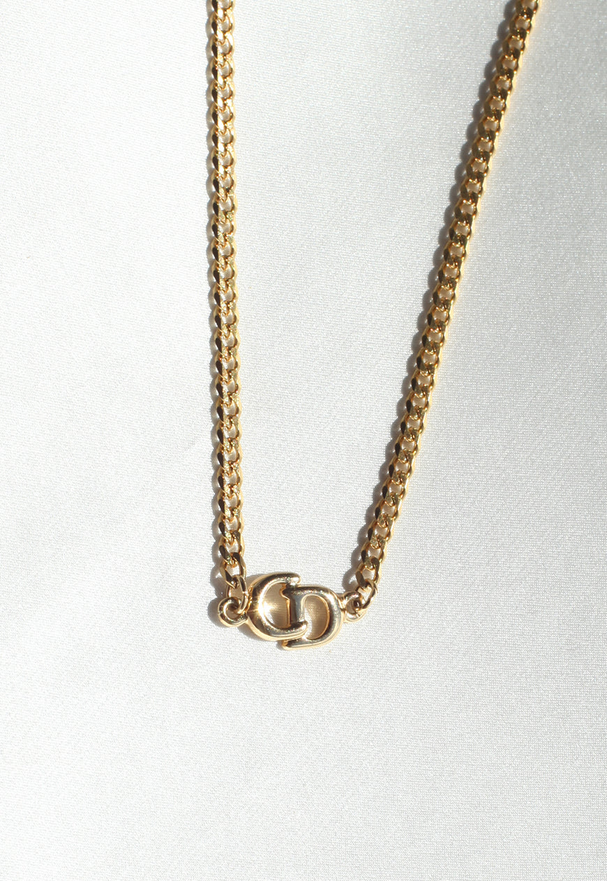 Reworked Christian Dior Pendant Necklace