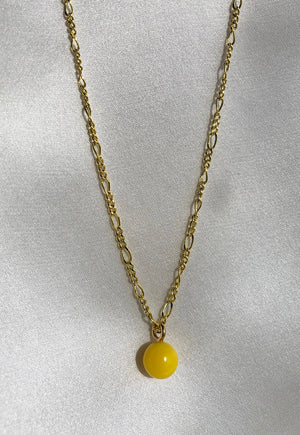 Reworked Louis Vuitton Yellow Ball Pendant Necklace