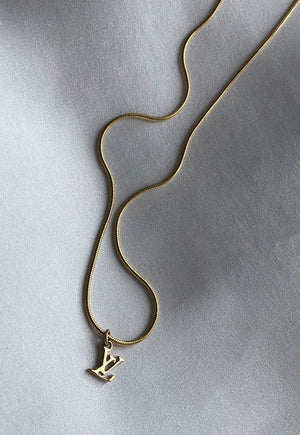 Reworked Louis Vuitton Small LV Pendant Necklace