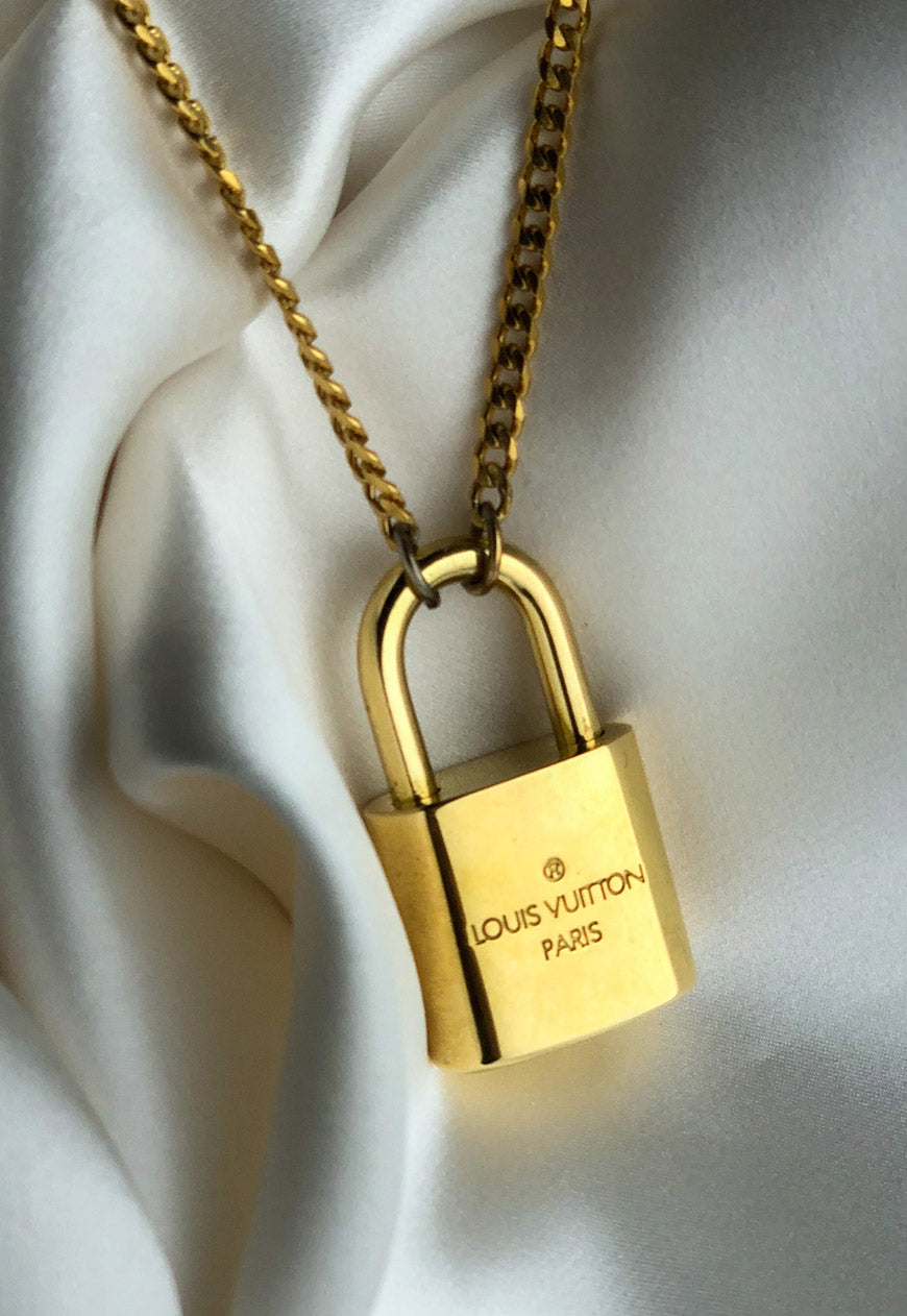 Custom Reworked Louis Vuitton Standard Sized Padlock Necklace (NOT THE MINI LOCK)