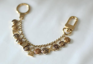 Reworked Louis Vuitton Round Clasp Pendant Necklace