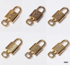 The Reworked Standard Sized Louis Vuitton Padlock Layered Necklace (Gold 1)