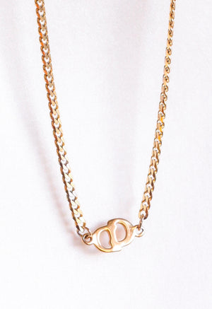 Reworked Christian Dior CD Pendant Necklace