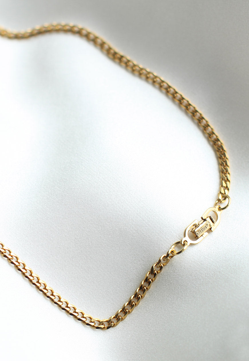 Reworked Christian Dior Clasp Pendant Necklace