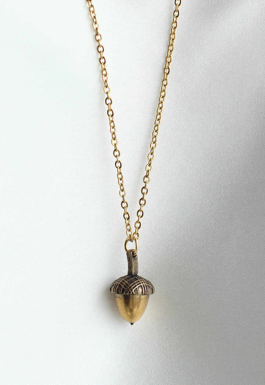 Reworked Burberry Acorn Pendant Necklace (Small)