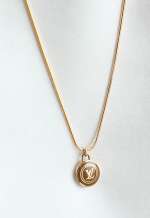 Reworked Louis Vuitton Light Brown LV Pendant