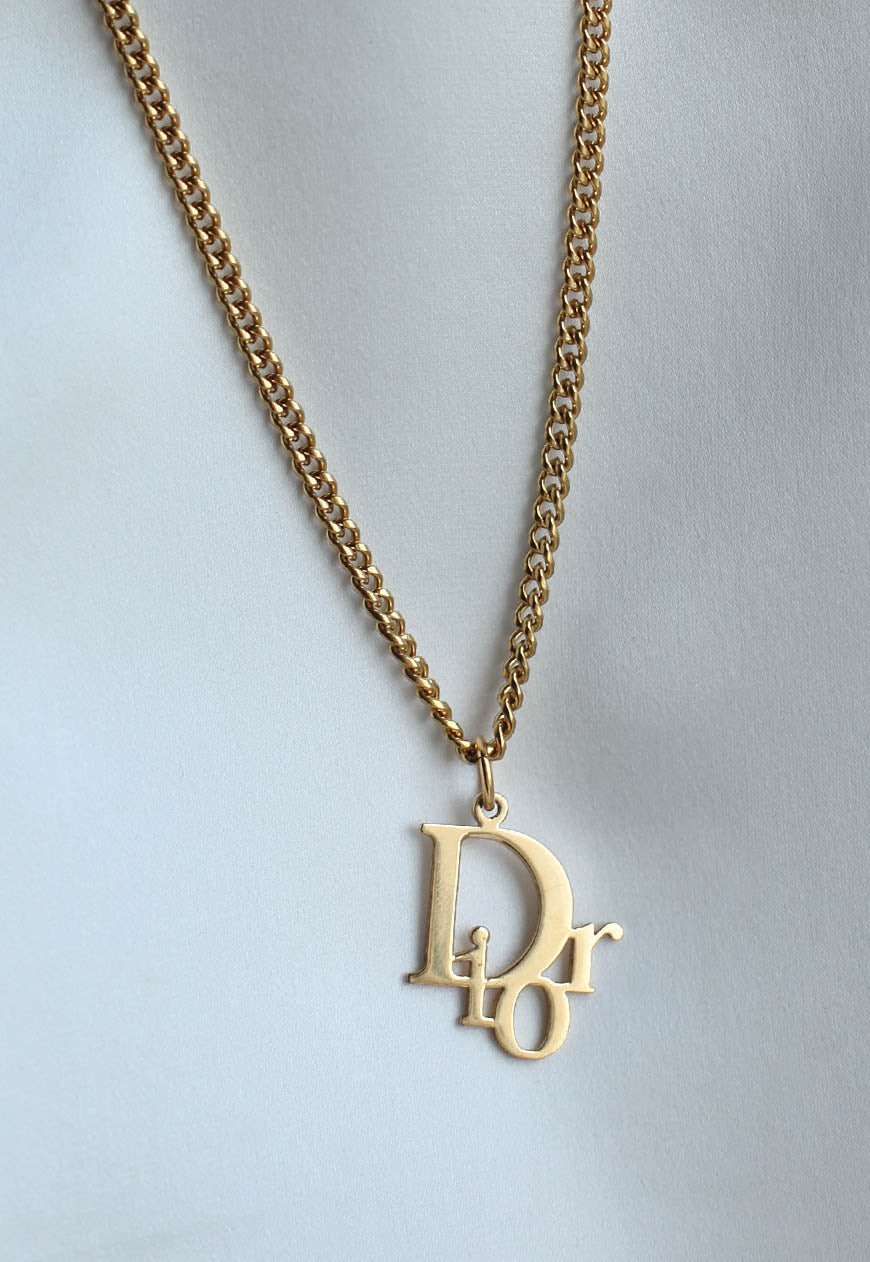 Reworked Dior Pendant Necklace