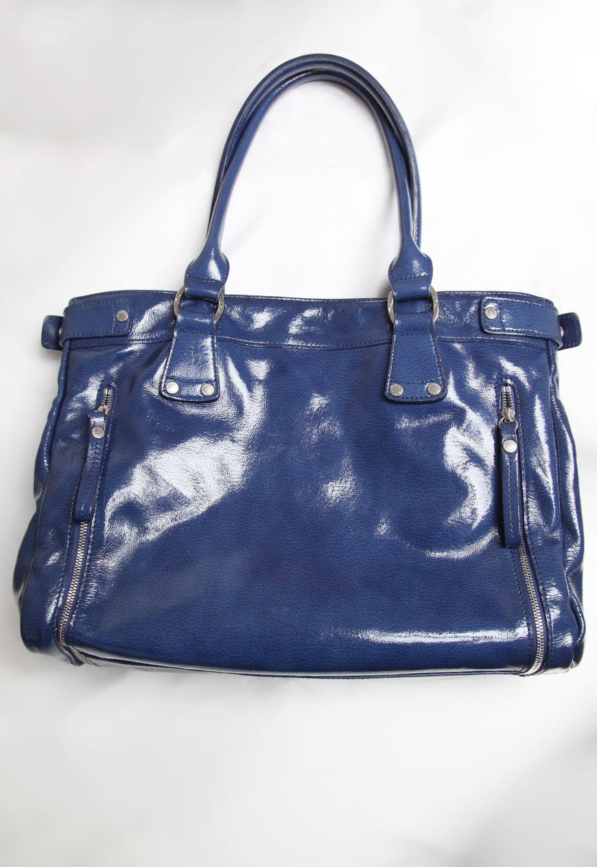 Longchamp Patent Leather Shoulder Bag