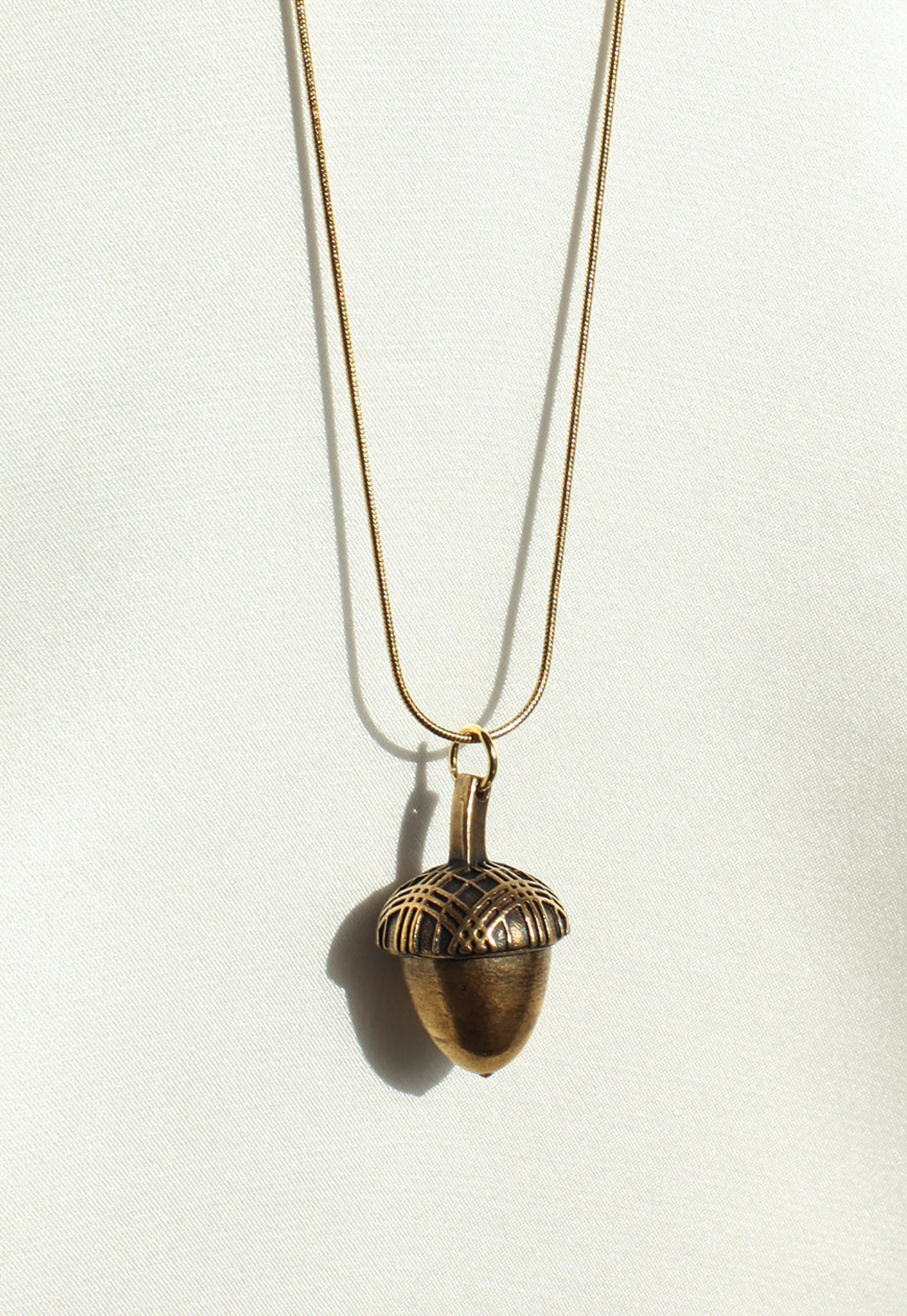 Reworked Burberry Acorn Pendant Necklace (Large)