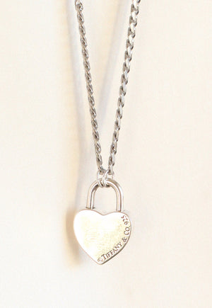 Reworked Tiffany & Co. Heart Lock Pendant Necklace
