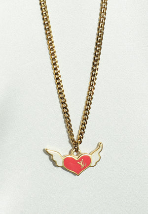 Reworked Louis Vuitton Winged Heart Pendant Necklace