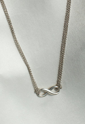 Preloved Tiffany & Co Double Chain Infinity Necklace