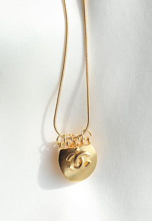 Reworked Large Chanel CC Pendant Necklace