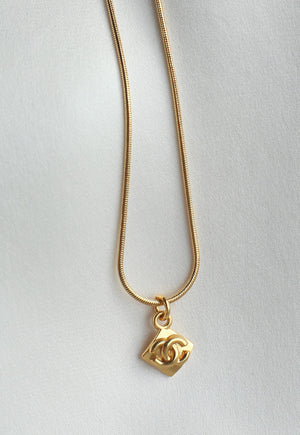 Reworked Chanel CC Pendant Necklace