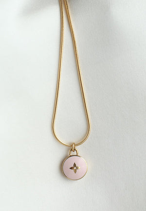 Reworked Louis Vuitton Lilac Flower Pendant Necklace