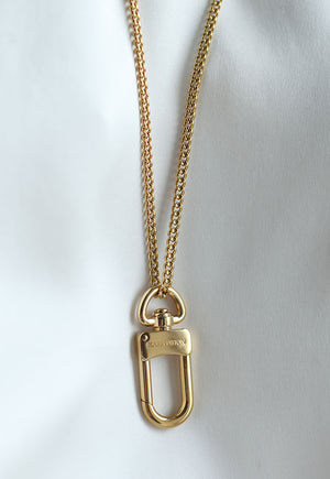 Reworked Louis Vuitton Clasp Pendant Necklace
