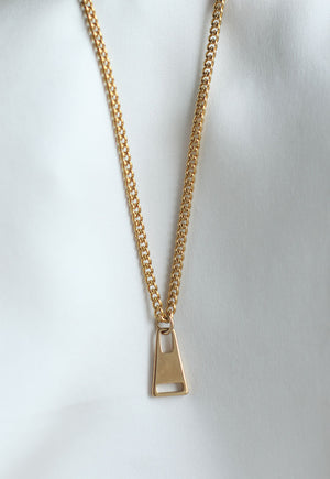 Reworked Louis Vuitton Triangle Pendant Necklace