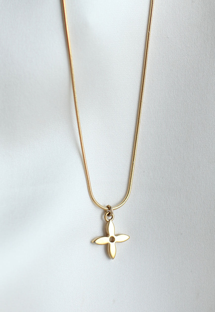 Reworked Louis Vuitton Flower Pendant Necklace