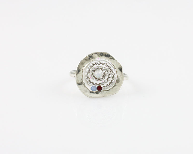 Beaded Swirl Ring