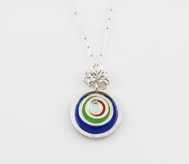 Mini Concentric Circles Pendant