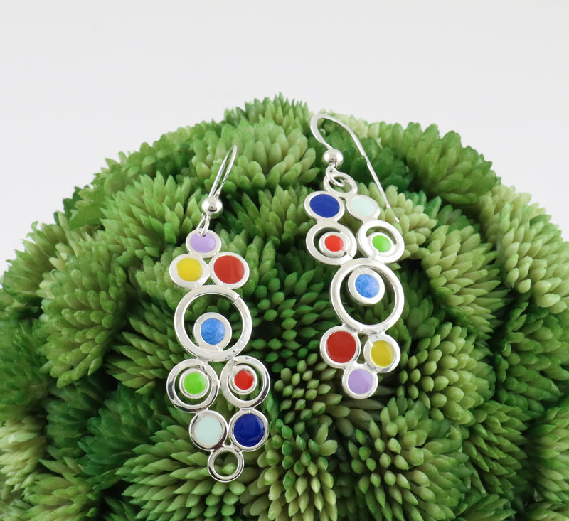 Concentric Circles Drop Earrings