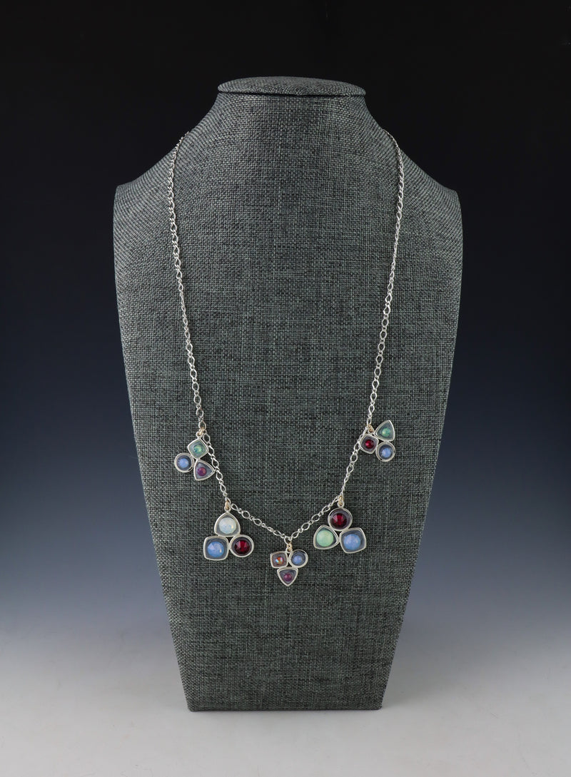 Geometric Swarovski Necklace