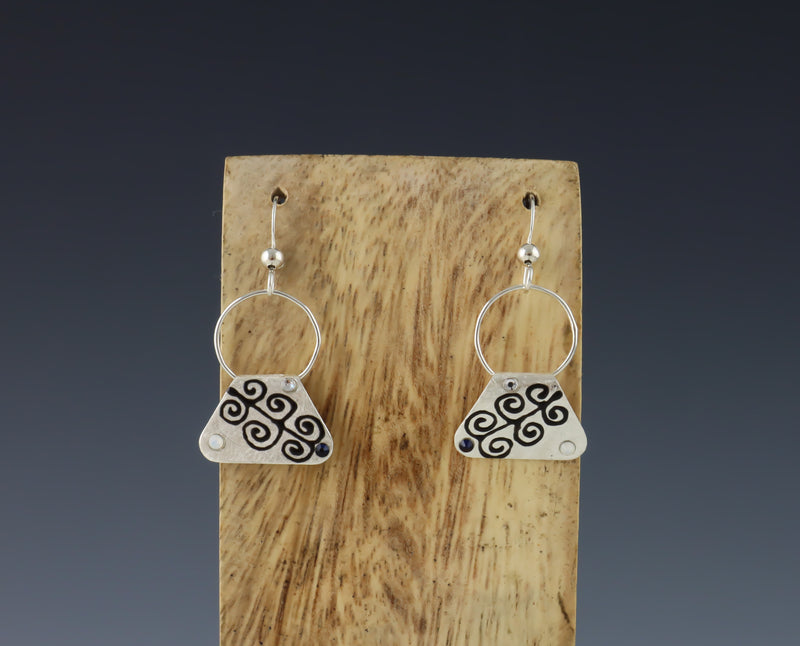 Mini Tree of Life Drop Earrings