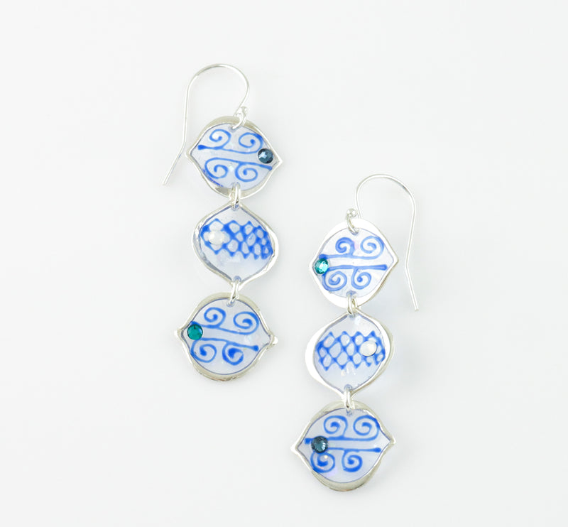 Triple Arabesque Drop Earrings