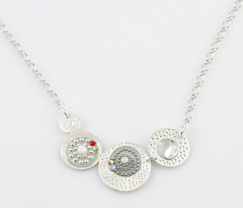 Petite Beaded Swirl Necklace