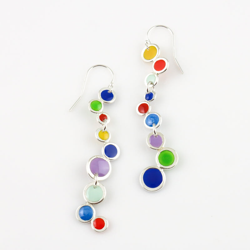 Long Bubble Drop Earrings